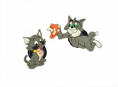 2 Pins clips chats type Jibbitz shoe charms cats customisation crocs sac...