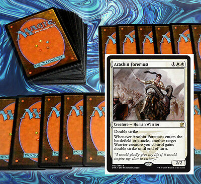 mtg BLACK WHITE WARRIORS DECK Magic the Gathering rare cards
