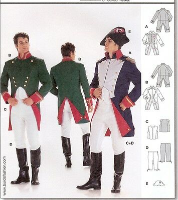 Napoleon costume 2sew PATTERN Historical Burda 2471 sz 36-48 French Lieutenant