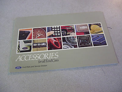Amazing 1982 Accessories for All FORD Cars Booklet