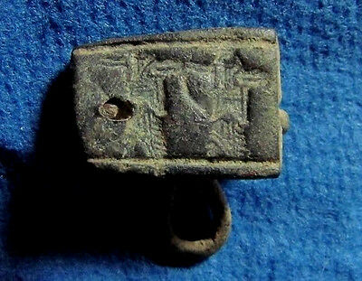 Phoenicia RARE ancient bronze seal Persian rule 5-4cen BC. Archaeology