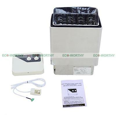 6KW Automaticl Electric Heater Sauna Stove Temp External Controler Home Spa
