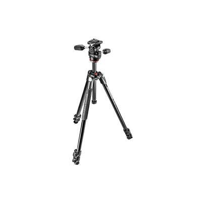 Manfrotto MK290XTA3-3WUS 290 Xtra Aluminum Tripod Kit w/3 Way Pan  Tilt Head