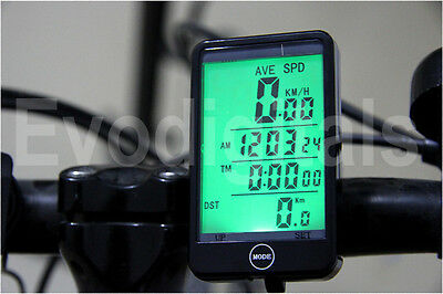 New Evorider Wireless Bicycle Cycle Computer Bike Speedo Speedometer + Touch!