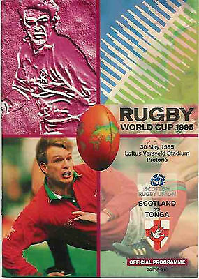 SCOTLAND v TONGA 1995 RUGBY WORLD CUP PROGRAMME