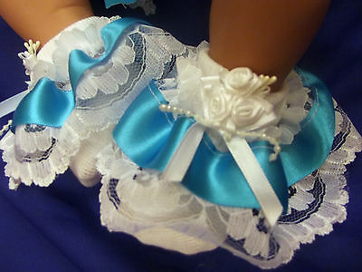 Dream Girls Romany Ribbon  Roses Colours Frilly Socks All Sizes Or Reborn Dolls