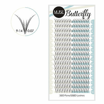 MUSE 0.07 4D Butterfly Pre fanned Volume Lashes Russian Fans Eyelash Extensions