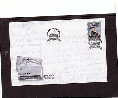 Aland 2012 Titanic ship First Day Cover FDC