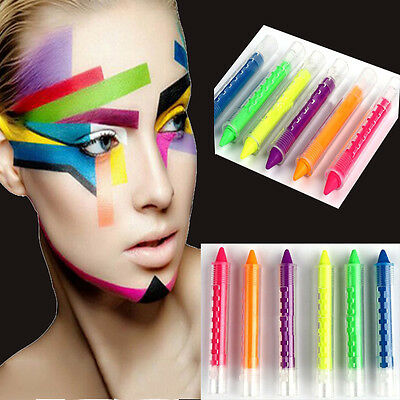 6 colors Kit Set Face Body Painting Crayon Sticks Party Fancy Stage Makeup