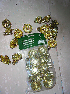 HUGE lot of Biederman Christmas Tree clip on candle holders holiday West Germany