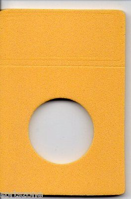 25 Quarter Sized Bcw Foam Coin Slab Inserts-Mustard