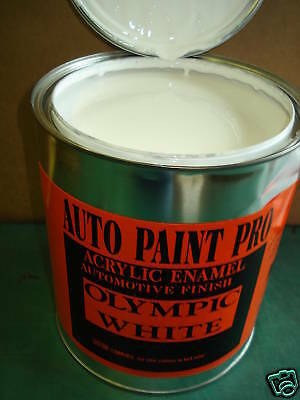 Olympic White GM 8624 acrylic enamel single stage auto body restoration paint