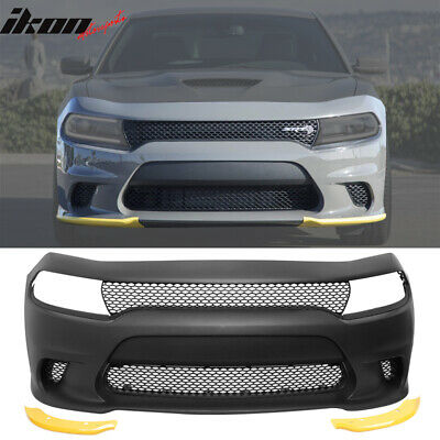 15-16 Dodge Charger SRT8 Style Hellcat Conversion Front Bumper Cover - PP