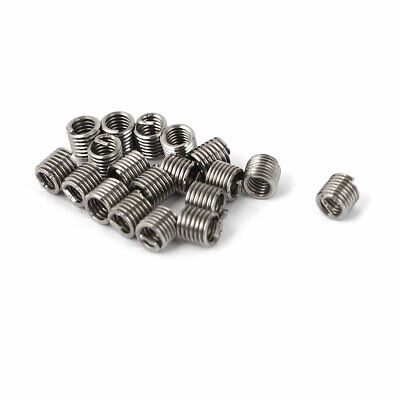 20 Pcs 304 Stainless Steel Helicoil Wire Thread Repair Inserts M2 x 0.4mm x 2D