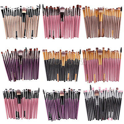 20Pcs Set Makeup Brushes Powder Foundation Eyeshadow Eyeliner Lip Cosmetic Brush