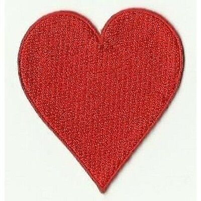 écusson ECUSSON PATCH PATCHE THERMOCOLLANT COEUR ROUGE DIM. 7 X 6 CM