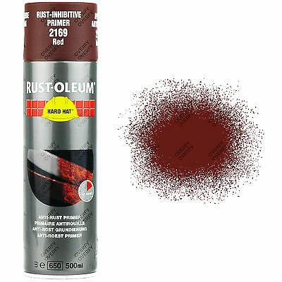 x1 Rust-Oleum Anti-Rust Corrosion Primer Red/Brown Spray Paint 2169 Hard Hat