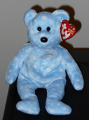 CT* Ty Beanie Baby ~ BUBBLY the Bear ~ MINT with CREASED TAG ~ RETIRED