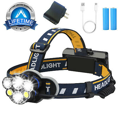 90000LM XM-L T6 LED Headlamp Zoomable Focus Headlight Flashlight Head Torch AA
