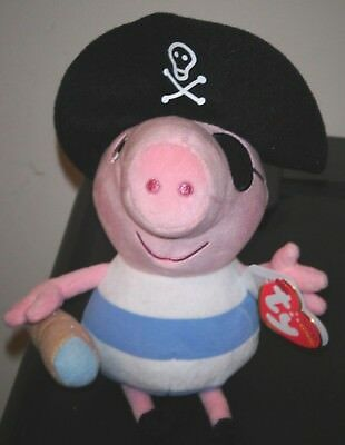 7d2114bf092 Ty Beanie Baby ~ PIRATE GEORGE ~ UK Exclusive ~ Peppa Pig ~ MINT with MINT