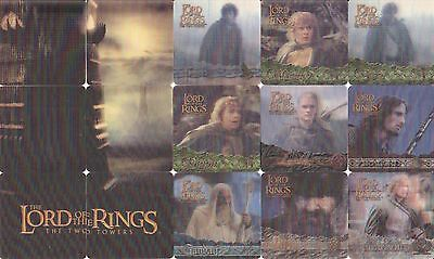 Lord Of The Rings The Two Towers Movie 3D Action Flipz 2002 Base Card Set Of 60