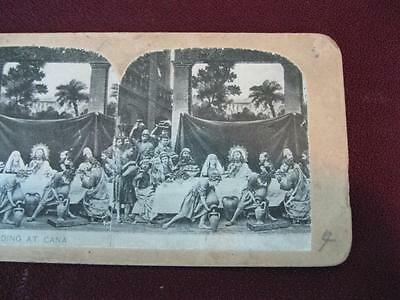 Stereoview Christian Christianity Bible Scene The Wedding At Cana Jesus O AS IS