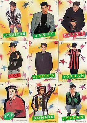 New Kids On The Block 1990 Topps Complete Sticker Set Of 11 Mu