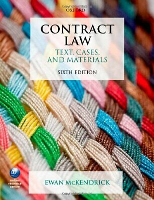 Contract Law Text, Cases, and Materials 6/e by McKendrick, Ewan Book The Cheap