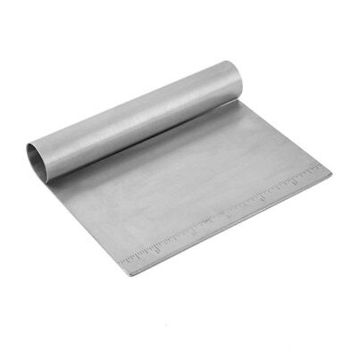 Kitchen Pastry House Metal Measuring Riveted Flour Cake Bread Dough Scraper