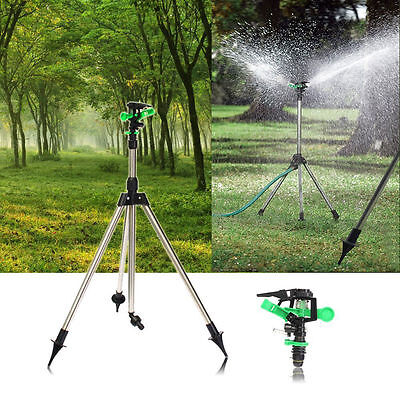 Tripod Impulse Sprinkler Pulsating Telescopic Watering Kit Grass Lawn Garden AU
