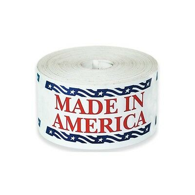"""Tape Logic Labels, """"Made in America"""", 2-1/2""""x5"""", 500/Roll"""