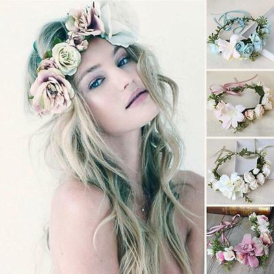 New Style Floral Flower Rose Party Wedding Hair Wreaths Headband Hair Band