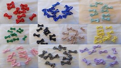 Polka dot Ribbon Bow Twist Ties Party Bags Wedding Favors Baby Shower Easter