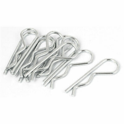 3.5mm Thickness R-Clip Spring Cotter Tractor Pins 75mm Length 10 Pcs