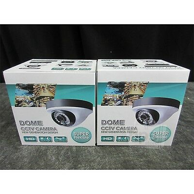 Lot of 2 MVPower TV-CW80A5 800TVL Dome CCTV Camera 3.6mm Lens Indoor/Outdoor