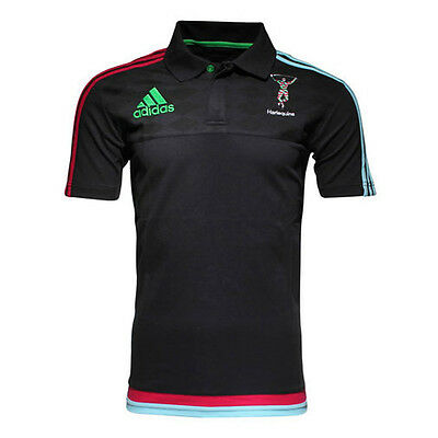 adidas Harlequins Players Media Rugby Polo Shirt - All Sizes Available
