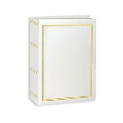 Pioneer A4100 White Mini Max Bound Photo Album Holds 100 4x6 Photos -1 Per Page