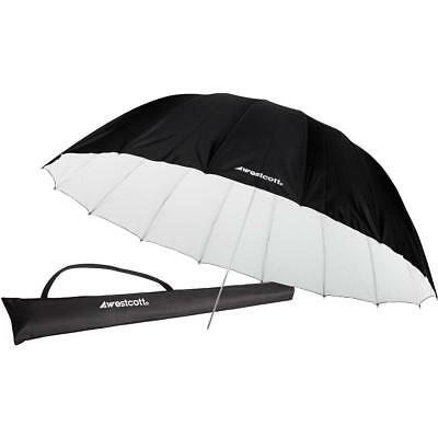 Westcott 7 Feet Parabolic Umbrella, White/Black #4634