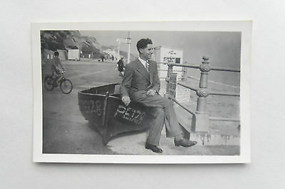 Vintage c1955 B/W Photograph. Poole Fishing Boat PE128. Ladies/ Gents Toilets