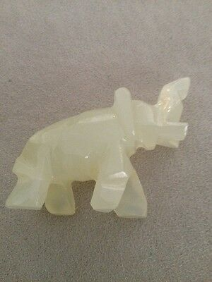 Fine Carved Chinese White Jade Elephant  Awesome
