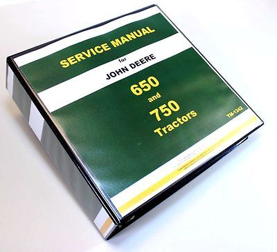 John Deere 650 750 Tractor Technical Service Manual Repair Shop Tm-1242 Binder