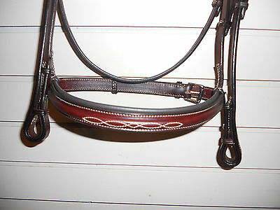 """NEW Edgewood Fancy Stitched Padded Bridle- 3/4""""- Full- Newmarket"""
