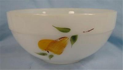 Hand Painted Fruit Colonial Kitchen Mixing Bowl Fire King Paint Wear AS IS (O)