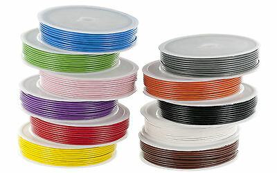 1/0.6mm Single Strand Equipment /Hook up Wire 10m Spools Various Colours