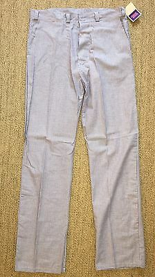 Simon Jersey Chef Uniform Pants, Navy & White Houndstooth Check, UK Size 34, NWT