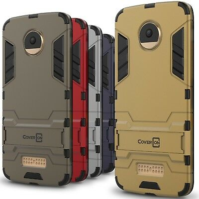 CoverON for Motorola Moto Z Droid Case Hybrid Stand Armor Phone Cover