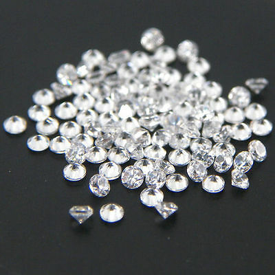 1000pc 1.5mm Round Wholesale Lot CZ Cubic Zirconia Loose Stone White AAA Quality