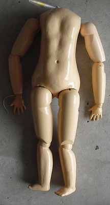 """BIG Vintage 11 Piece Wood Composition Jointed Doll Body Arms Legs 22"""" Tall"""