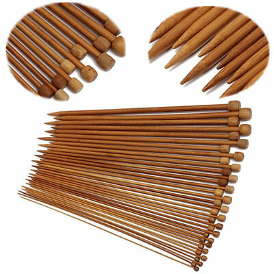 2.0-10.0MM 36Pcs18size Smooth Carbonized Bamboo Single Pointed Knitting Needles
