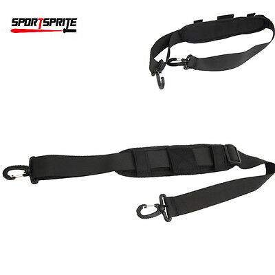 Outdoor Nylon Padded Shoulder Strap w/ Double Hooks For Camera Bag Pouch Black